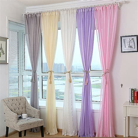 purple and grey striped curtains modern curtain yarn striped widow screening sheer white