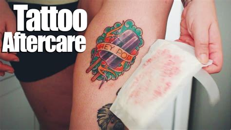 tattoo care after getting it tattoo aftercare youtube