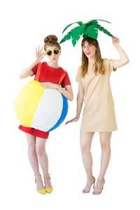 Tropical Themed Wedding Ideas - diy palm tree beach ball costumes studio diy