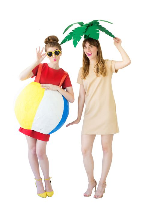 diy costumes diy palm tree beach ball costumes studio diy