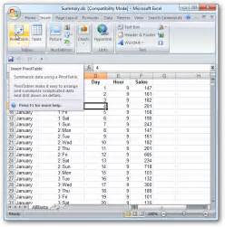 how to create a pivot table in excel 2007