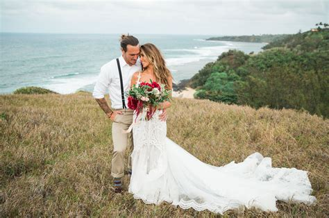 Wedding Pic by Audrina Patridge Corey Bohan S Boho Chic Kauai Wedding