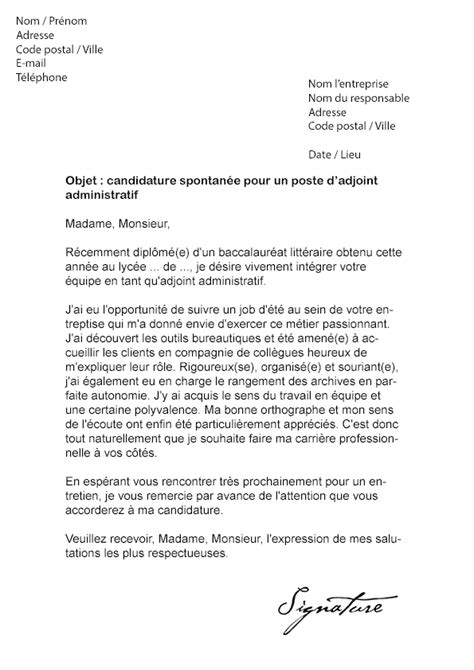 Exemple Lettre De Motivation Candidature Spontanã E 11 Lettre Motivation Candidature Spontan 233 E Modele Lettre