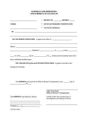 subpoena duces tecum template subpoena form fill printable fillable blank