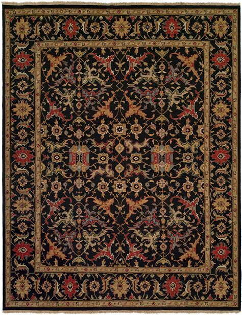 accents rugs black field with black border and multi colored accents