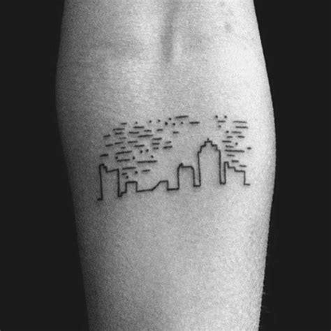 city skyline tattoo minimalist city skyline pics