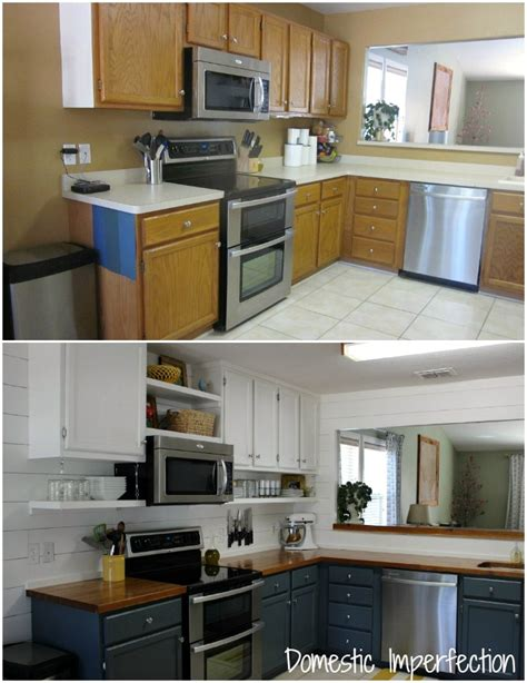 cheap kitchen remodel ideas before and after budget diy kitchen easy home decorating ideas