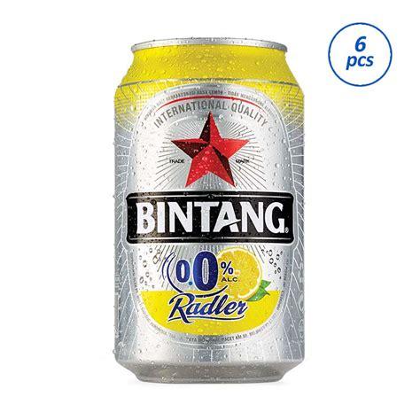 jual bintang 114992 radler 0 lemon minuman kaleng 330 ml