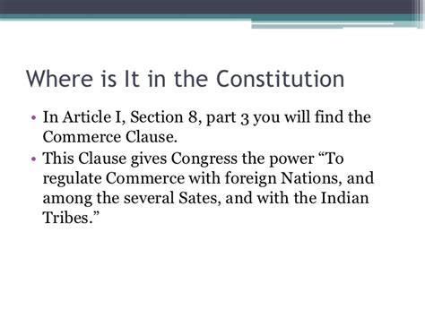 article i section 8 clause 3 united states v lopez