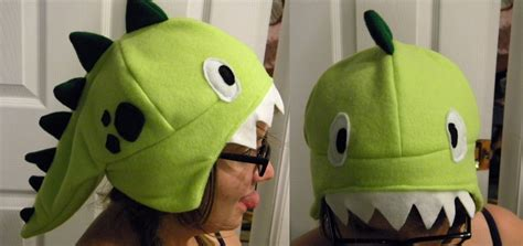 How To Make A Dinosaur Hat Out Of Paper - dinosaur fleece hat by negai boshi on deviantart
