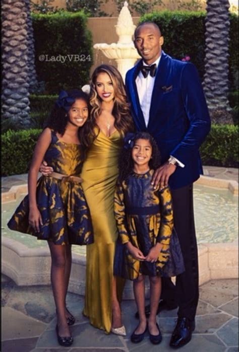 kobe and vanessa bryant pose with daughters in family