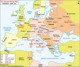 Ww2 Map Of Europe by Map Of Europe Wwii