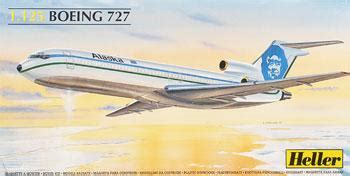 commercial plastic model airplanes b727 air alaska commercial airliner plastic model airplane