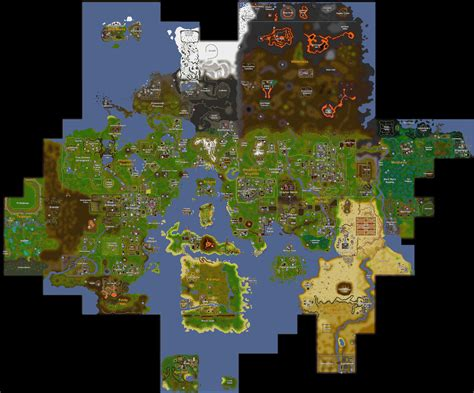 Rs World Map by World Map Of Runescape