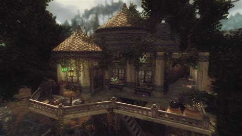 elisdriel bosmer inspired tree house at skyrim nexus