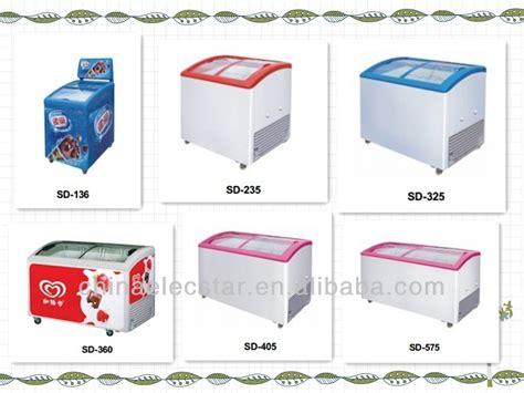 Freezer Hiron commercial glass chest showcase etl dipping