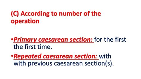 preparing for elective c section caesarean section