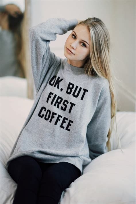 Brandy Melville Gift Card Code - brandy melville erica but first coffee sweatshirt graphics
