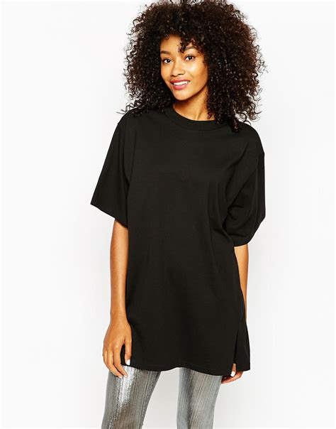Oversized T Shirt Dress Dlcd 10 monki oversized t shirt dress with crew neck in black lyst