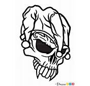 How To Draw Jester Skull Tattoo Skulls