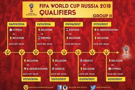 World Cup Qualification 2018 Calendar Poste