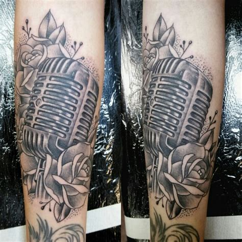 studio microphone tattoo designs old school microphone tattoos by jerome james