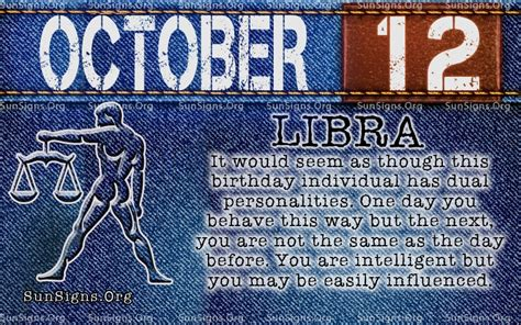 october 12 birthday horoscope personality sun signs