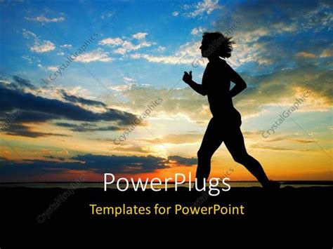 powerpoint templates running powerpoint template a girl running on the beach with