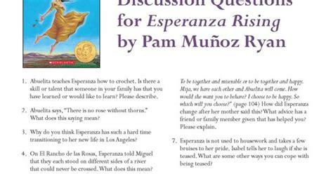 esperanza rising book report discussion questions for esperanza rising by pam mu 241 oz