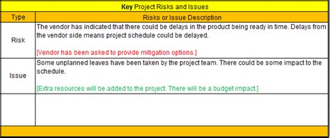 risk mitigation report template project status report template excel free template one