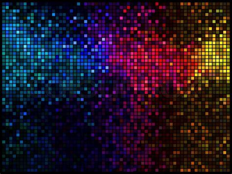 Modern Home Design Inspiration Multicolor Abstract Lights Disco Background Square Pixel