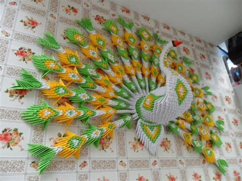 tutorial pavo real origami 3d 33 best 3d origami images on pinterest craft modular