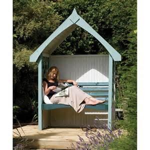 Forest garden blenheim wooden garden arbour seat internet gardener