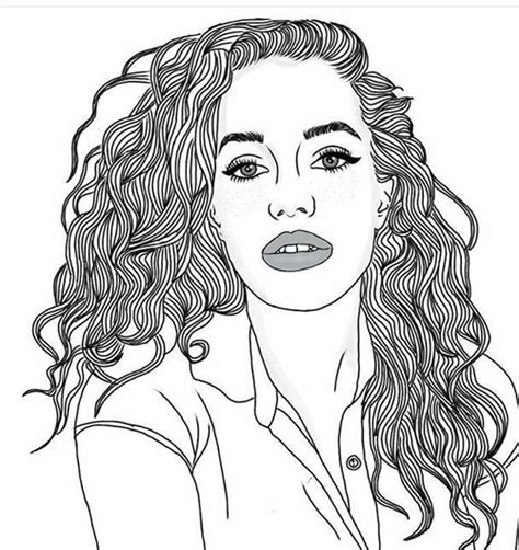 cool curly hair  drawings  naz whi