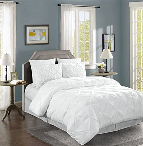 white pintuck comforter set chezmoi collection berlin 4 piece pintuck bedding