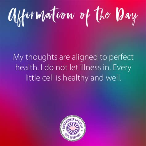 affirmation   day perfect health inspirational