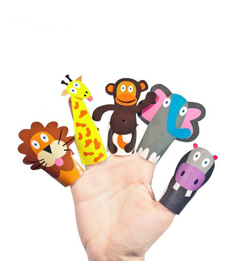 printable animal toys jungle animals paper finger puppets printable pdf toy diy