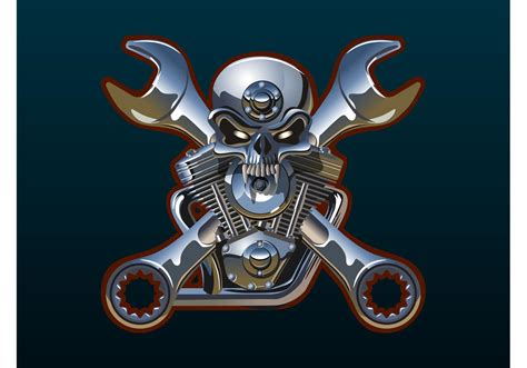 hayabusa tattoo designs metal skull and wrenches free vector stock