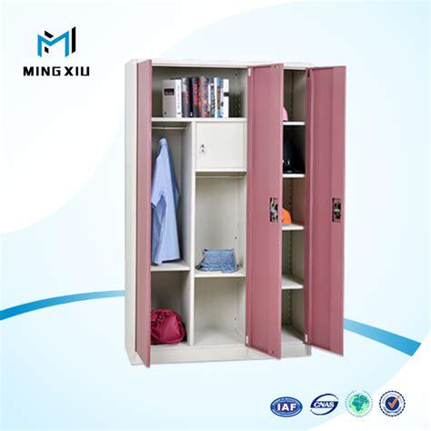 desain lemari loker mingxiu perabot kantor 3 pintu lemari baja kabinet besi