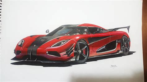 koenigsegg one drawing koenigsegg agera one 1 edition bekirselcuki draw