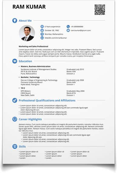 Create Resume Format by Cv Maker Create Resume Now