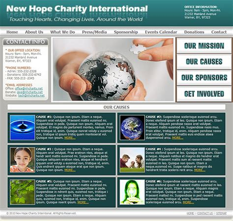 Charity Website Template Non Profit Charity Template Charitable Organization Template Charity Web Templates