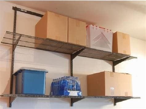 Garage Shelving Fixed To Wall Garage Wall Mounted Shelving Decor Ideasdecor Ideas