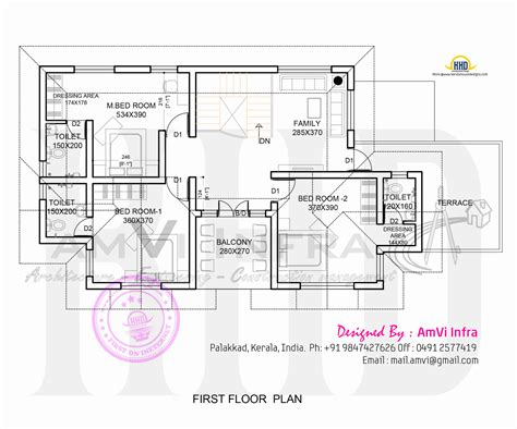 kerala home design first floor plan house made of laterite stone kerala home design and