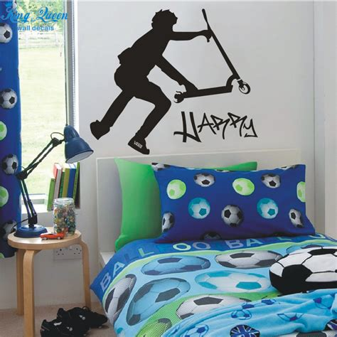 vinyl wall stickers custom large scooter stunt custom custom wall decals