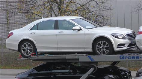 2020 Mercedes S Class by 2020 Mercedes S Class W223 Mule Filmed On Car Carrier