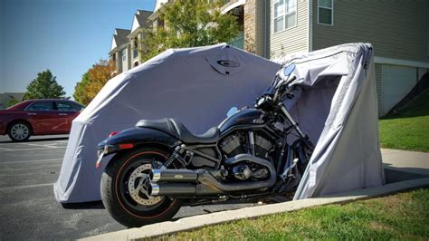 innovation shed cover motorcycle portable simplistic