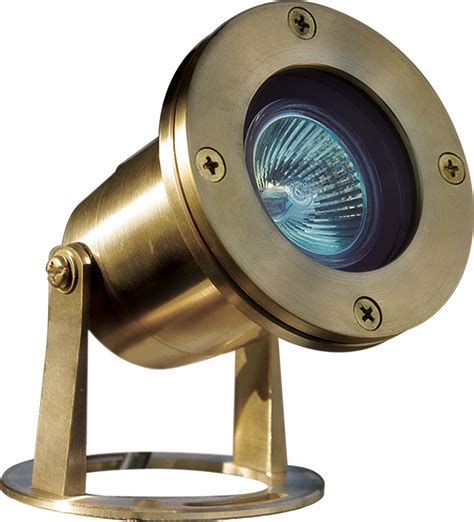 Underwater Lighting Fixtures Dabmar Lv323 Bs Modern Brass Halogen Exterior Pond Underwater Lighting Dab Lv323 Bs