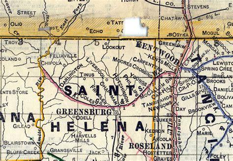 kentwood louisiana map kentwood greensburg southwestern railroad la map