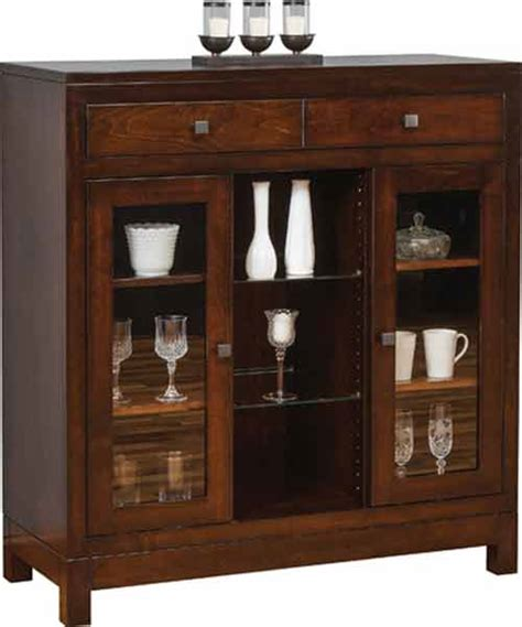 Small Dining Room China Cabinet Amish Custom Made Hutches Buffets And Sideboards The